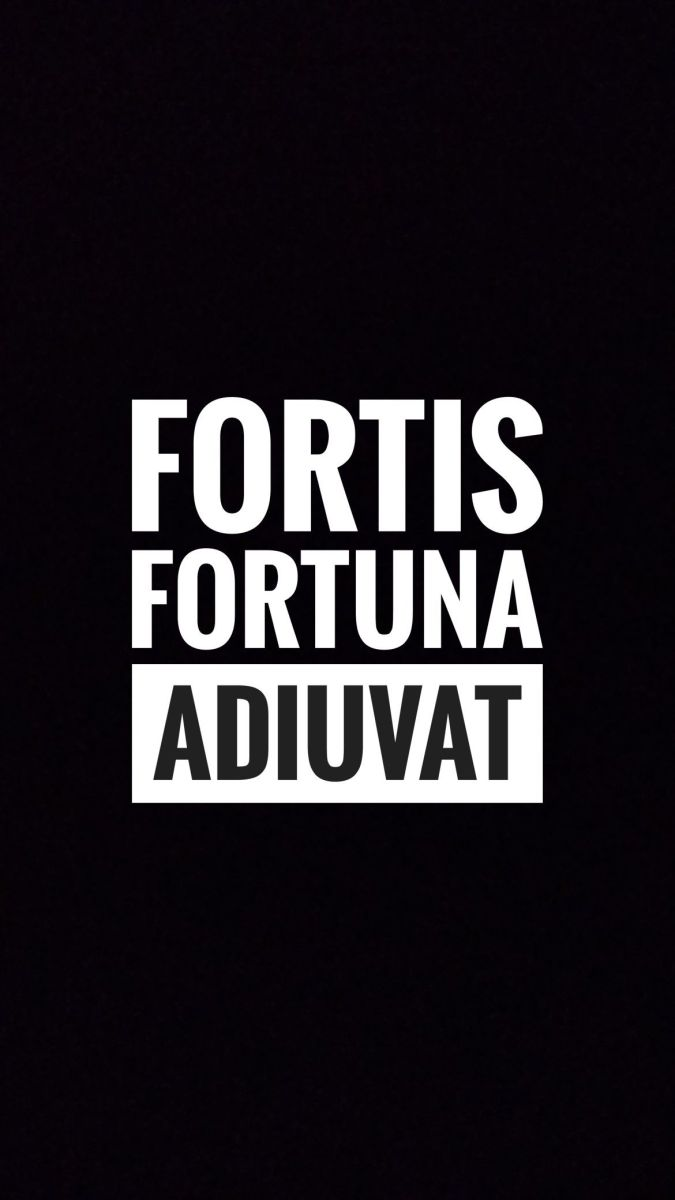 Fortuna Fortis Adiuvat - Fortune Favours the Brave